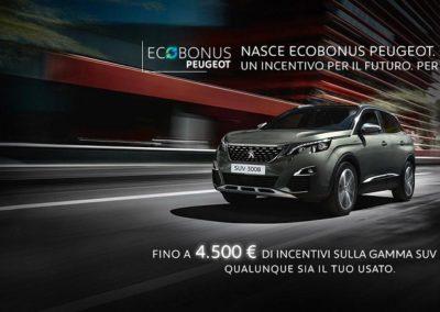 ECOBONUS  PEUGEOT : FINO A 4.500 € DI INCENTIVI SU 3008